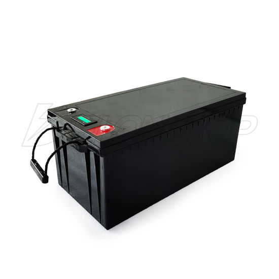 Deep Cycle 2000 Cycle Times LiFePO4 12V 300ah Solar Energy System Battery with LED for EV