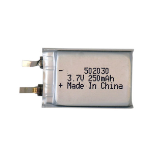 Rechargeable 502030 250mAh Li-Polymer Battery Cell
